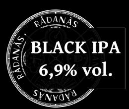 Etikett av Rådanäs Black IPA